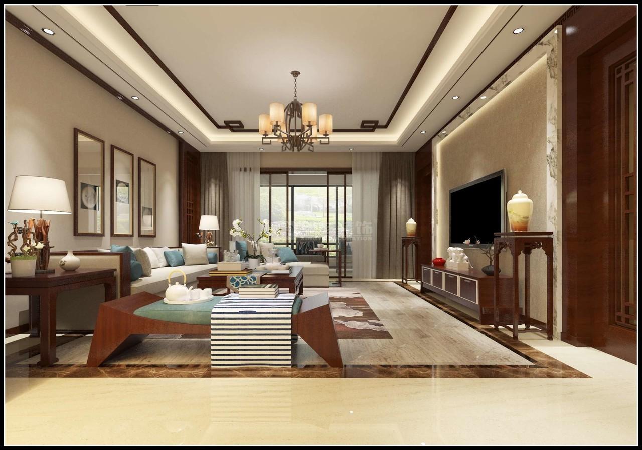 美的林城时代新中式,中式,单身公寓,130.0㎡
