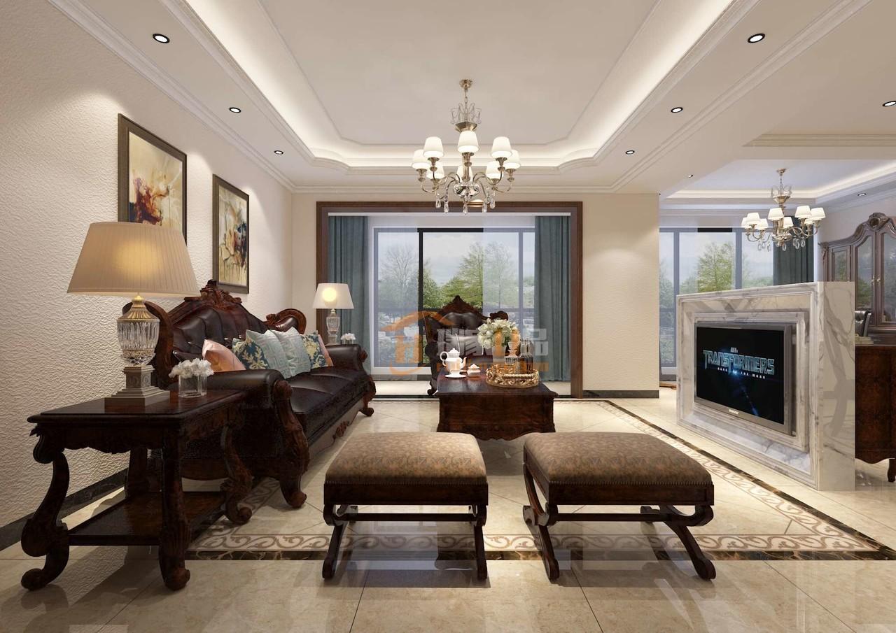 这套未来方舟别墅装修设计风格是简美风格,贵阳别墅装修选择星艺装饰。