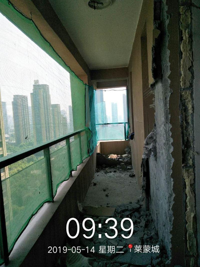 铲白灰,储藏室墙体拆除