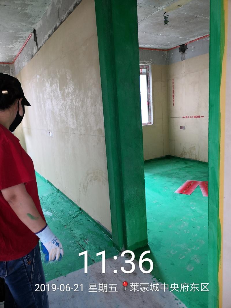 厨房卫生间阳台地面找平,黄墙绿地施工