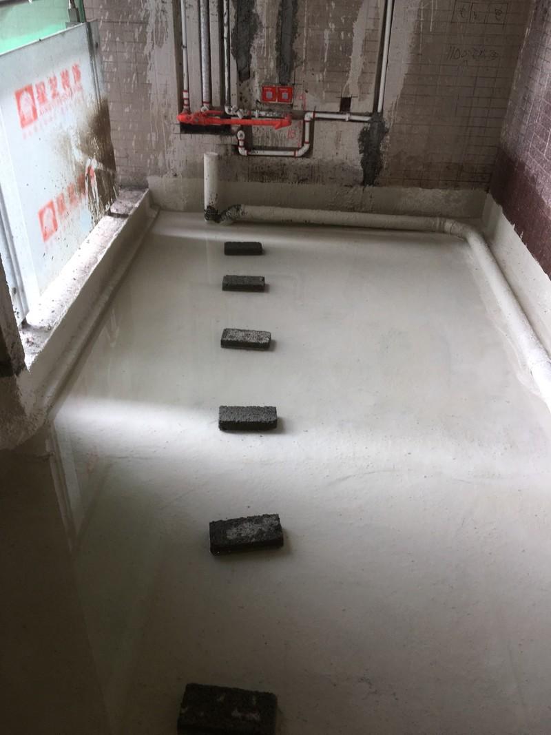 卫生间沉箱架空、防水施工