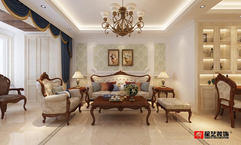 紫御观邸,欧式,三居室,130.0㎡