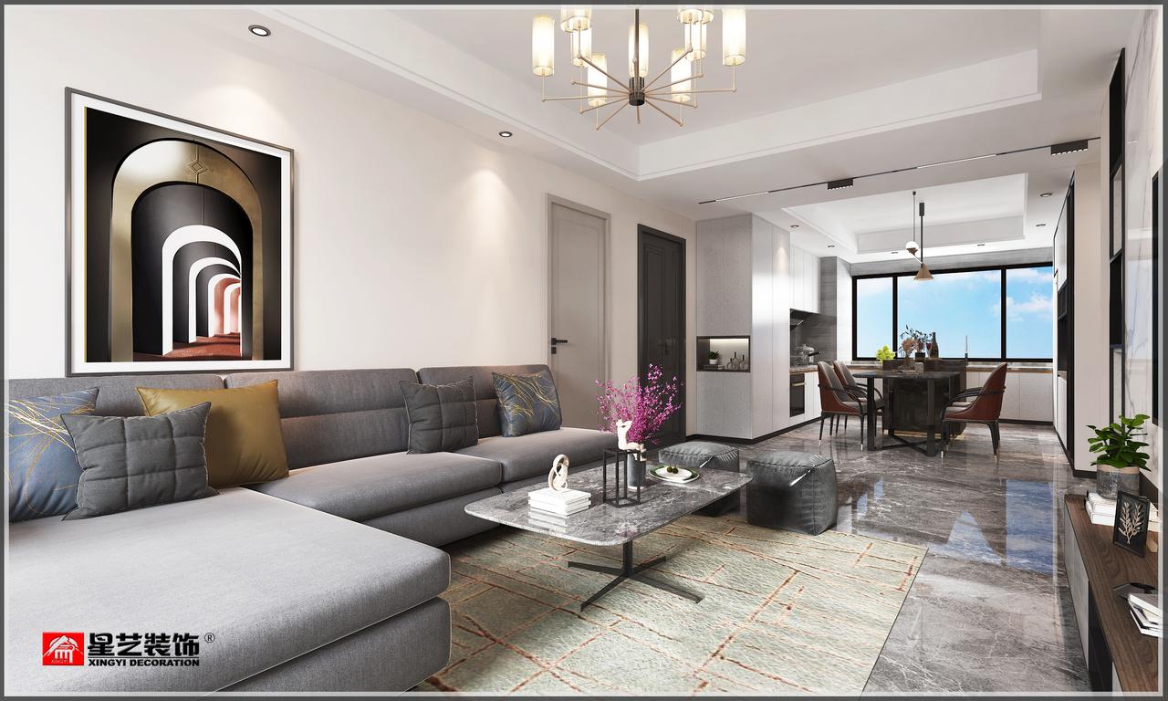 泉水E区,现代,三居室,100.0㎡