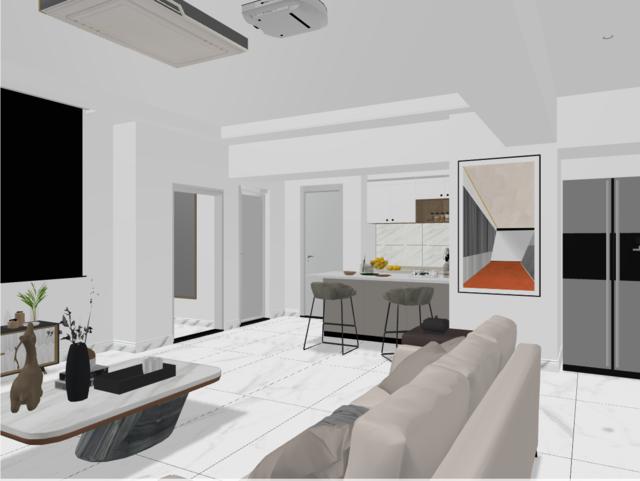 桃园公寓,,三居室,120.0㎡