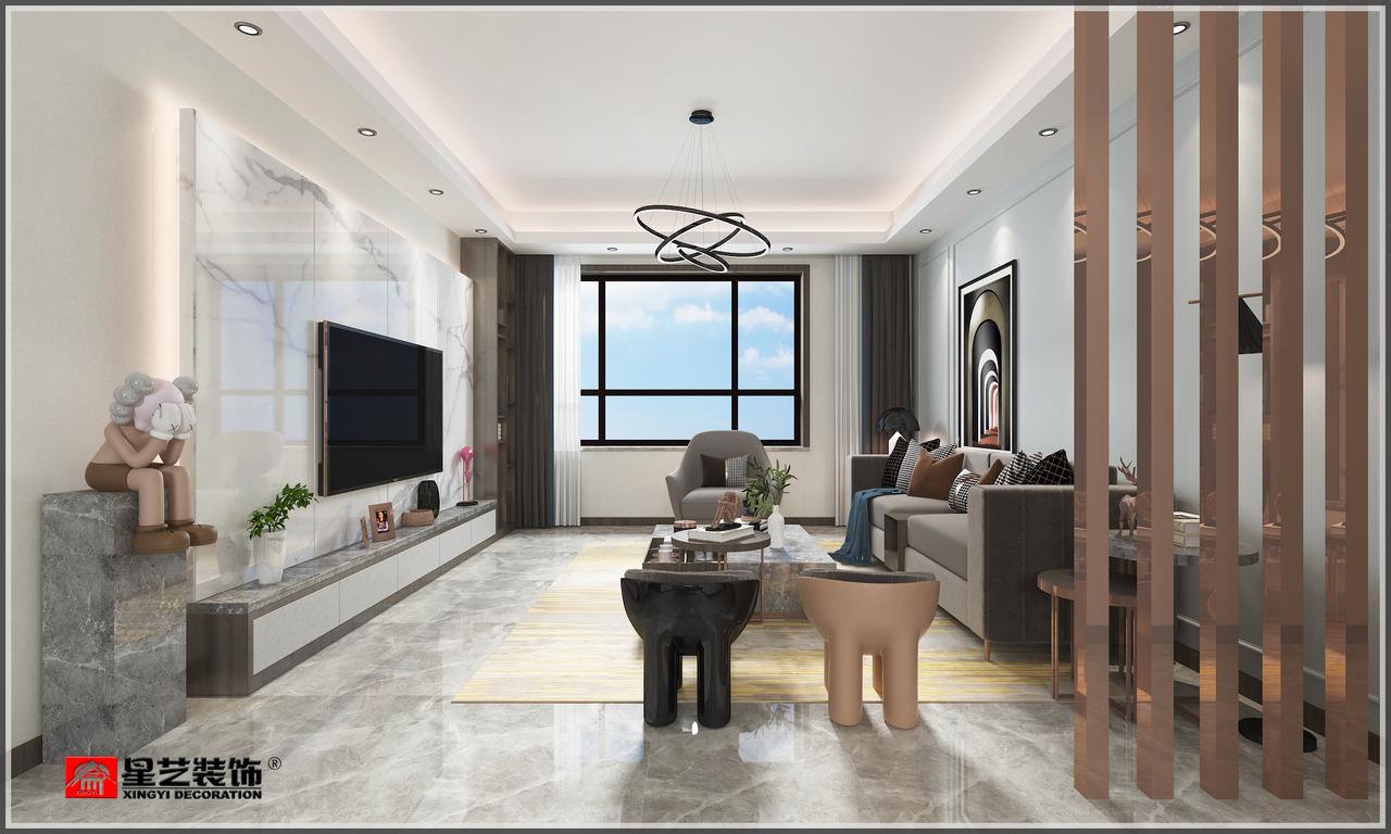 保利天禧现代,现代,三居室,140.0㎡