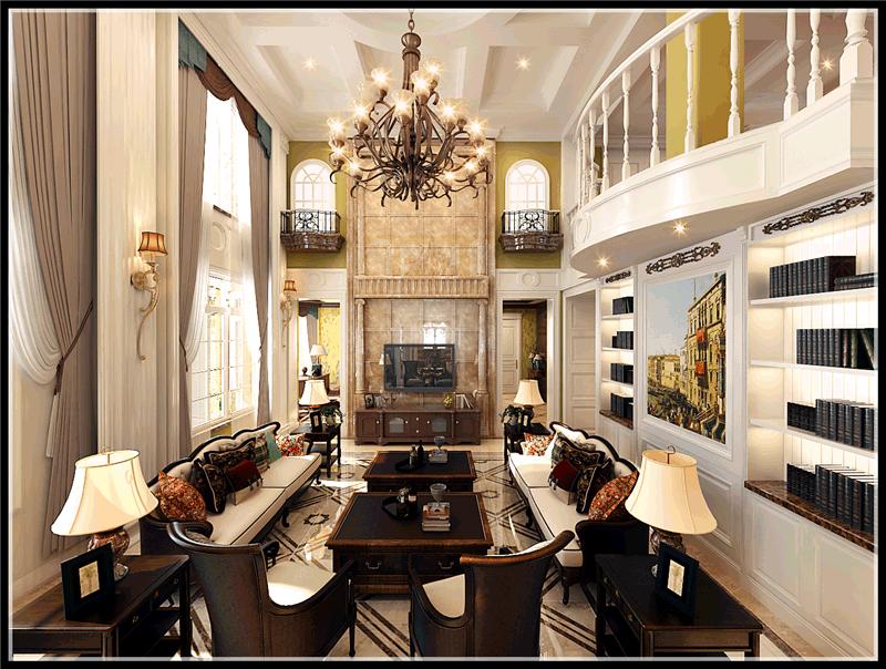 大连明秀庄园别墅,新古典风格,大连装修设计,大连装修案例,大连装修效果图,大连装修设计方案