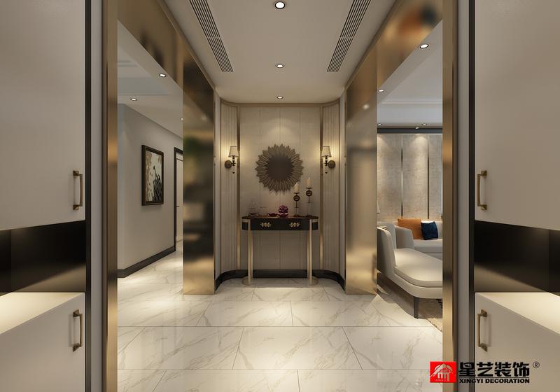 大连大户型装修设计,港式风格186平三室两厅