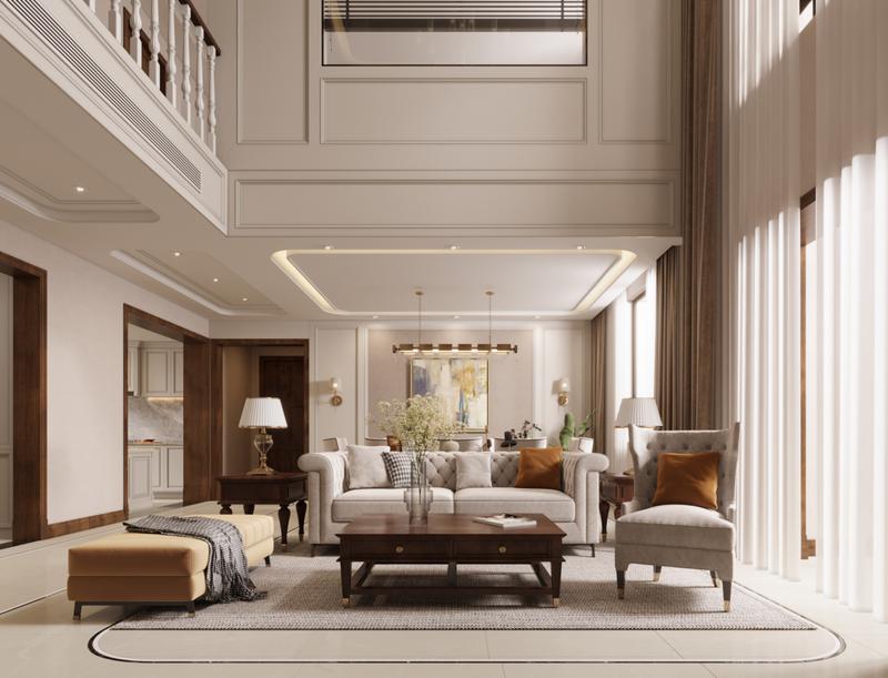 大連別墅裝修, 簡美風格, 紅星海領墅