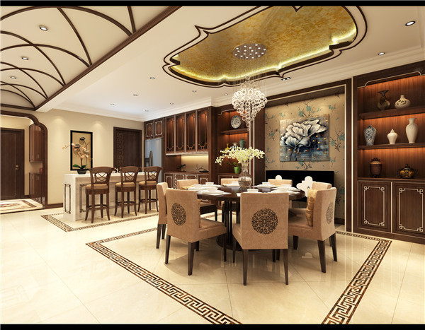 大连富士庄园别墅,中式风格,大连装修设计,大连装修案例,大连装修效果图,大连装修设计方案