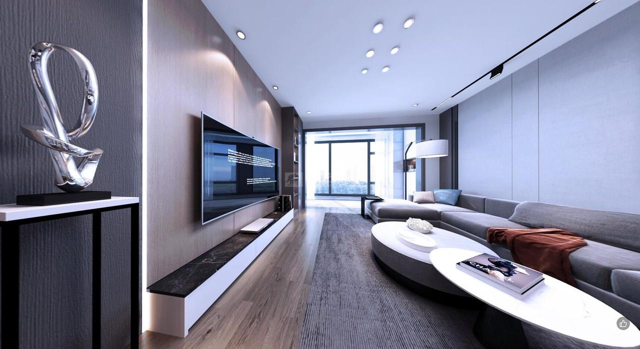 本案例是位于华润悦府F1栋的平层设计。业主喜欢黑白灰的简洁冷色调,房子以休闲度假为主,整体舒适实用,偏向于现代风格。客厅直接连通阳台,宽敞明亮;厨房合二为一,操作台改为L型,动线合理,放大活动区域;门厅处放置整排储物柜,满足一家人的生活需求;无主灯的设计,随时切换光线,体验不同生活格调。