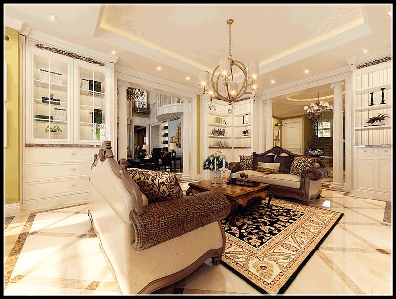大连明秀庄园别墅,美式风格,大连装修设计,大连装修案例,大连装修效果图,大连装修设计方案