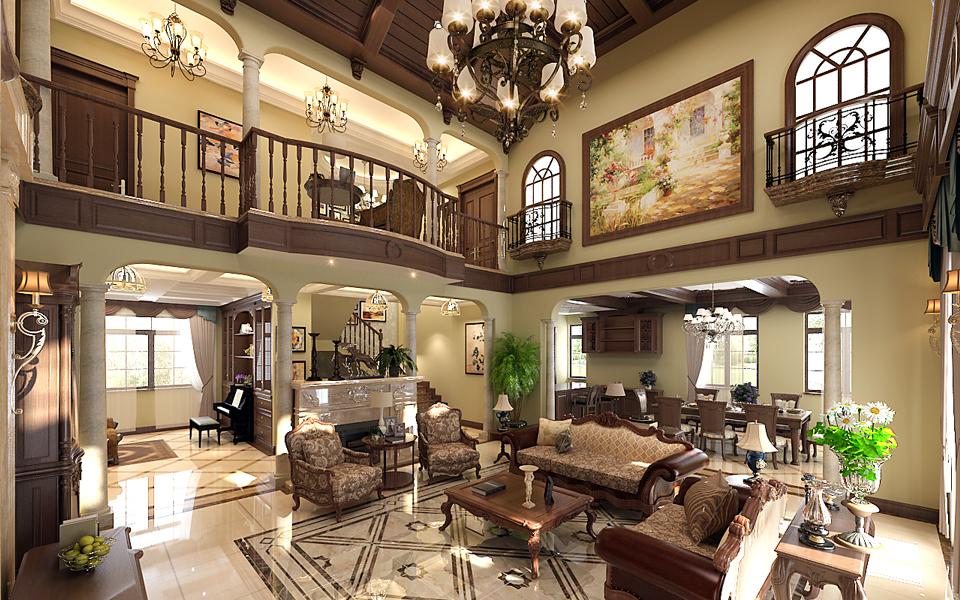 大连橡树庄园,大连装修设计,美式风格,大连装修案例,大连装修效果图,大连装修设计方案