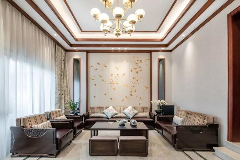 贵阳装修公司,新中式装修实景,贵阳别墅装修,别墅设计