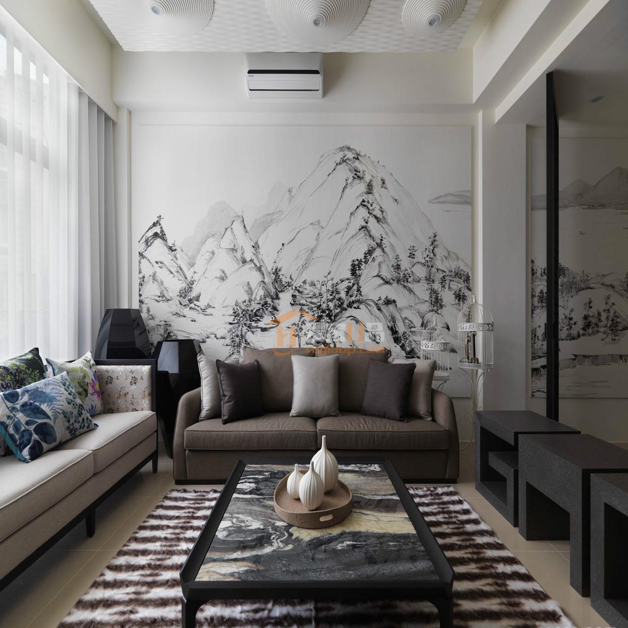 黔灵文峰苑新中式装饰造型主要采用硬朗简洁的直线条,空间具有层次感之美。,,,128.0㎡