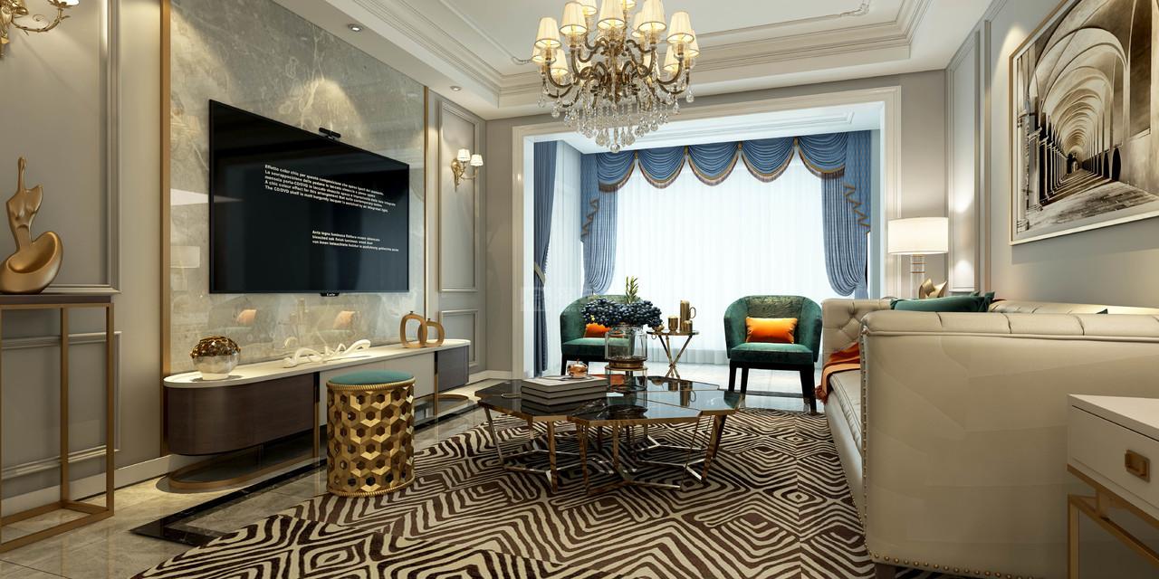 中航城,简欧风格设计案例,日式,别墅,107.0㎡