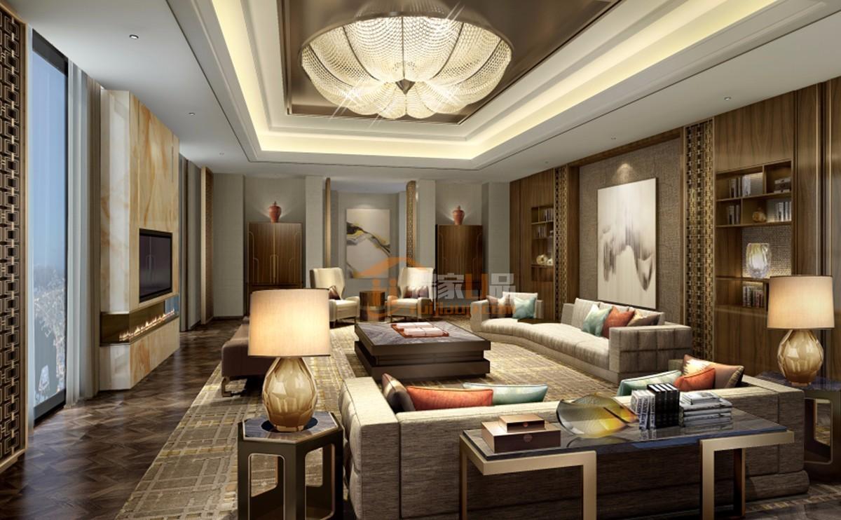 西南国际商贸城轻奢平三居室营造出豪华舒适性,,,162.0㎡