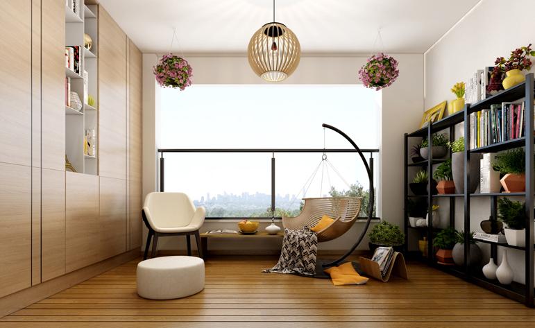 保利香槟公园现代简约运用浅色原木,打造温馨系四人居,,四居室,156.0㎡