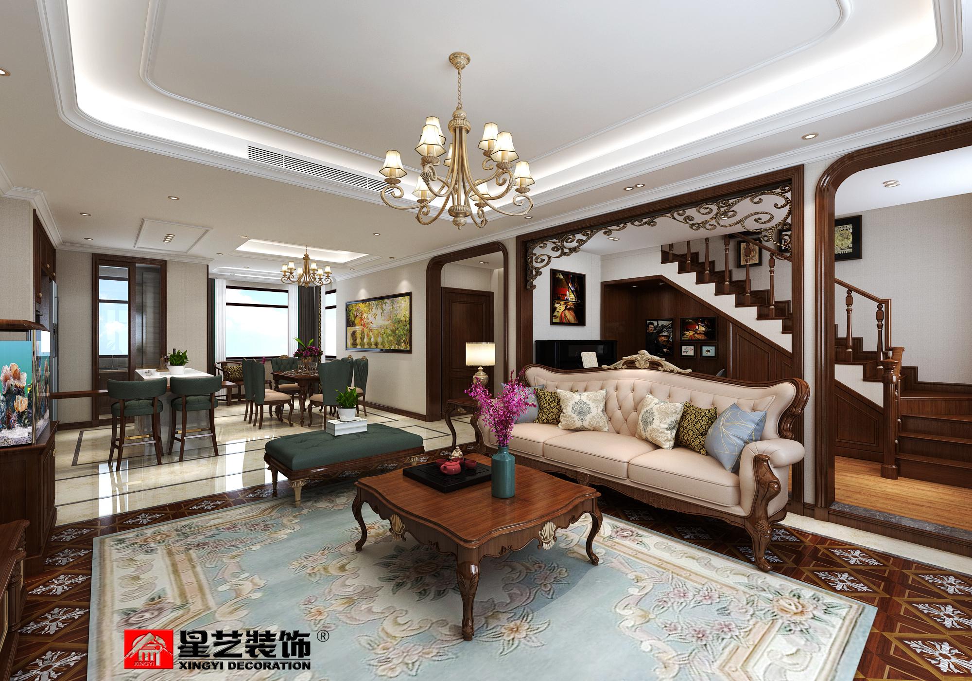 大连别墅装修美式风格