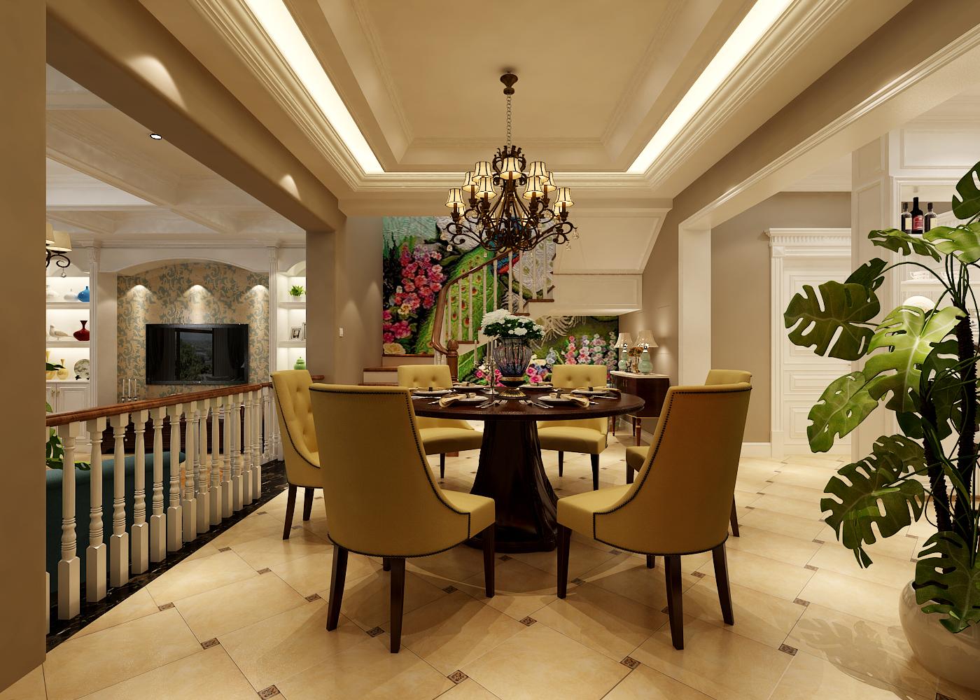 大连留庄别墅装修设计420平美式风格,打造理想中的温馨之家
