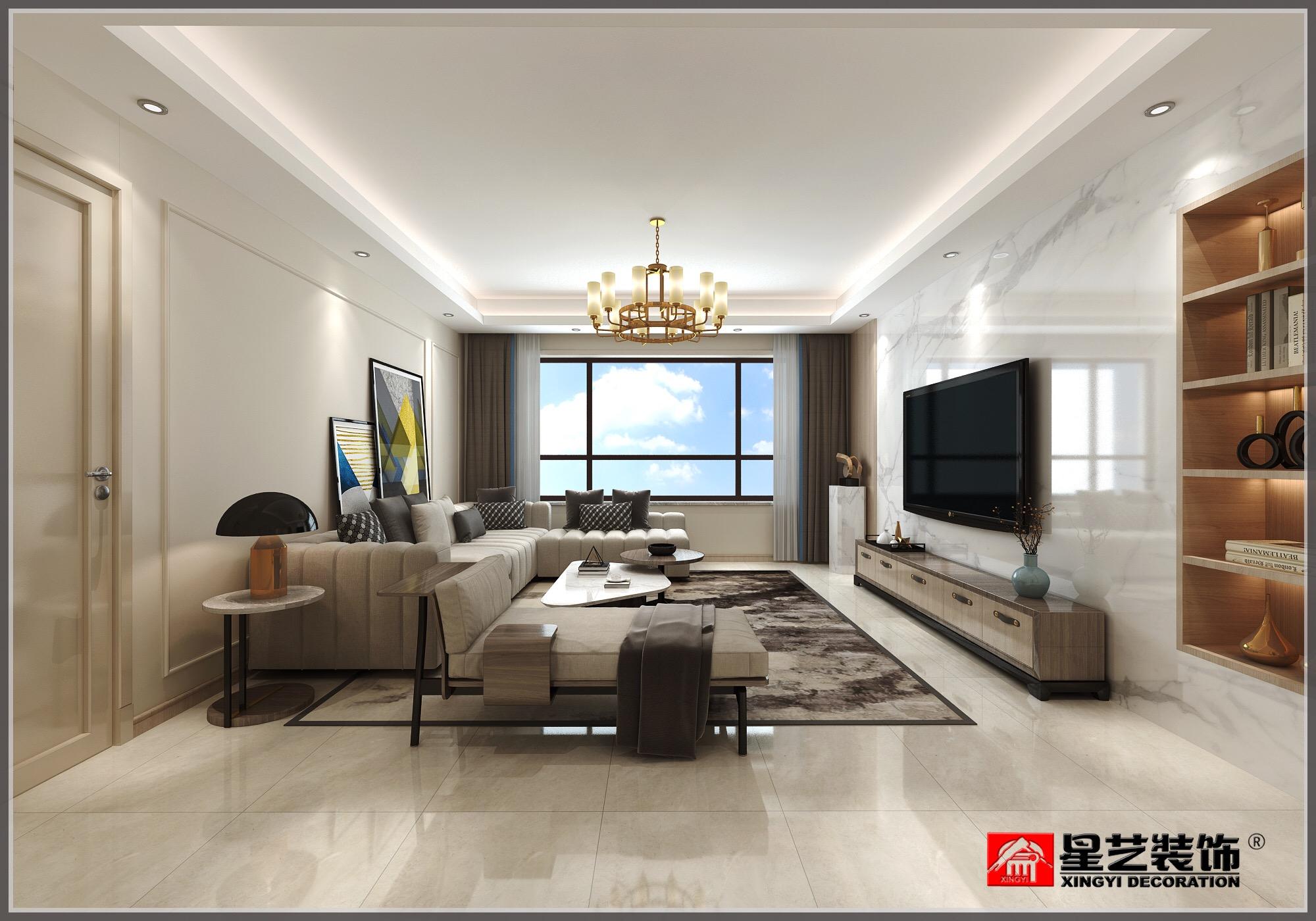大连新房装修_星海长岛现代风格装修设计