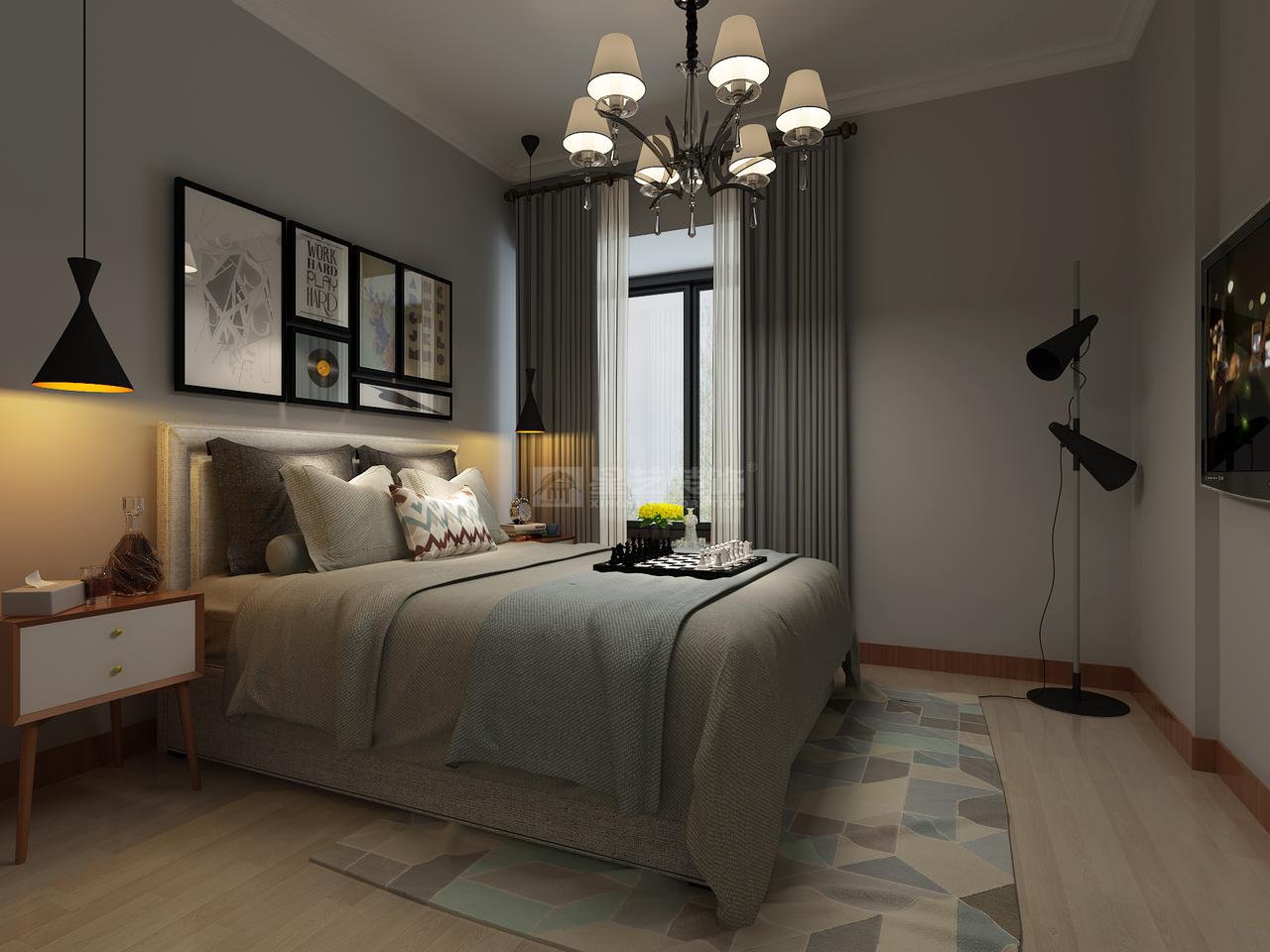 华润国际D简约,现代简约,单身公寓,150.0㎡
