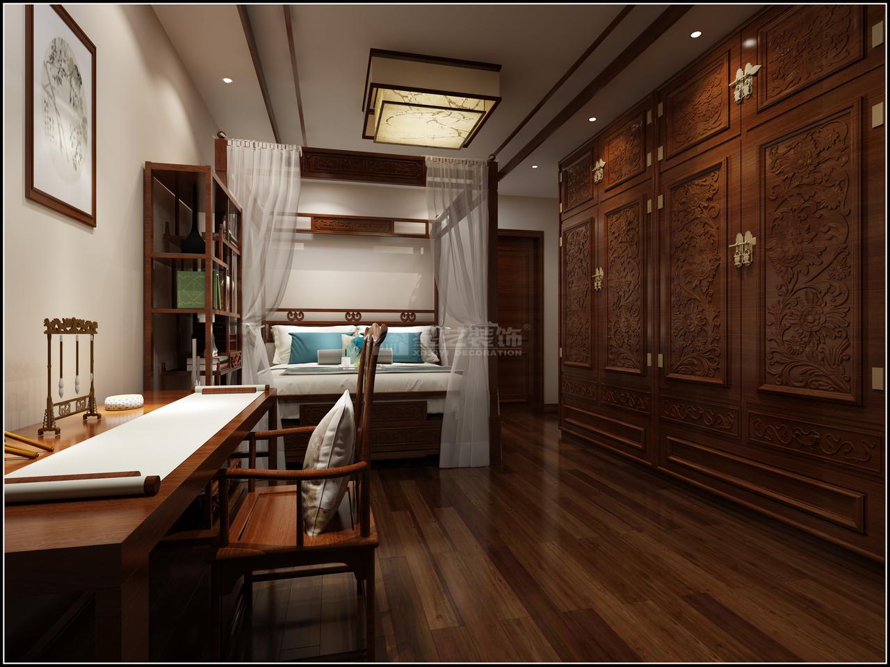 恒大中央公园A,中式,一居室,0.0㎡