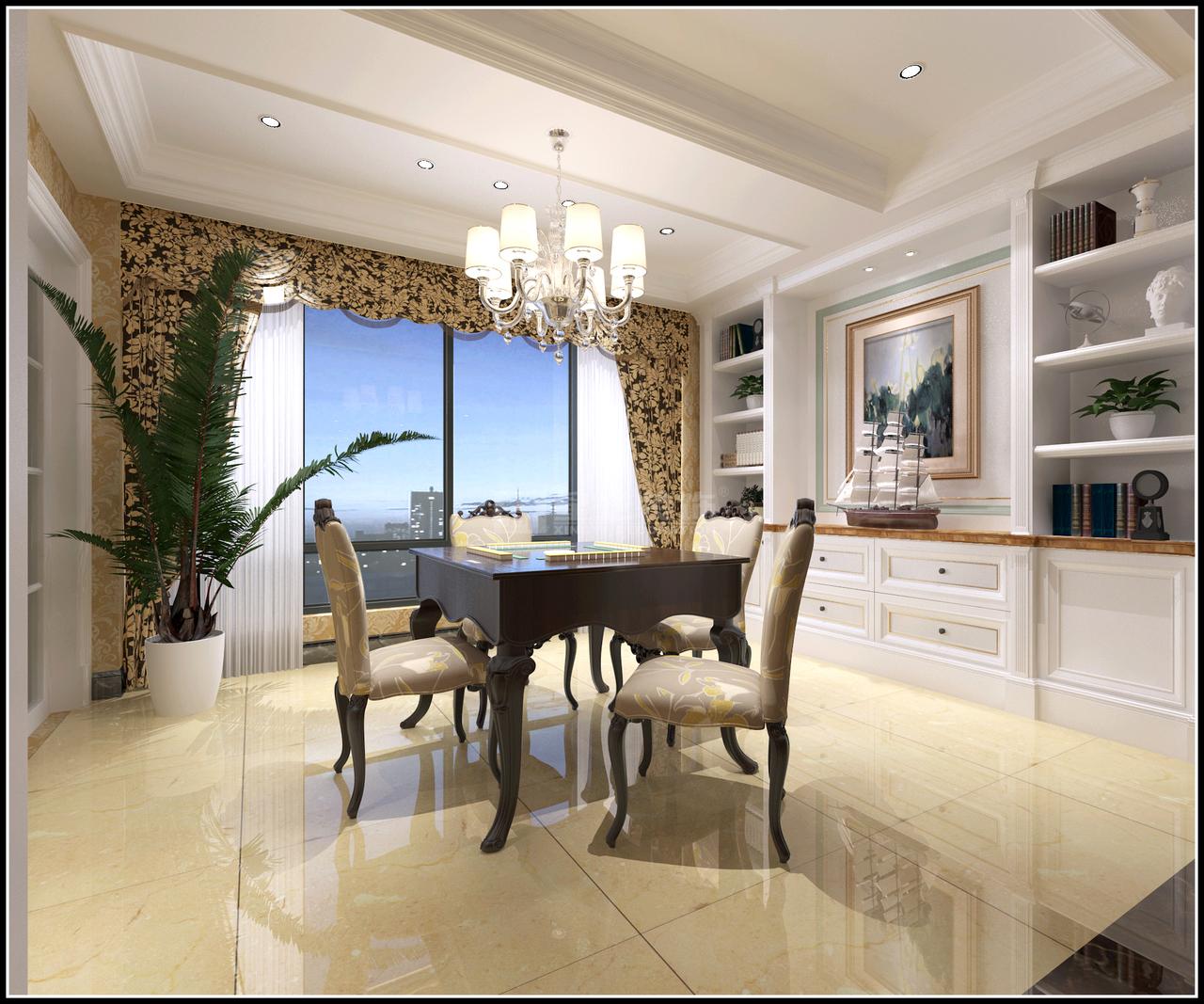 观山湖一号简欧,简欧,单身公寓,125.0㎡