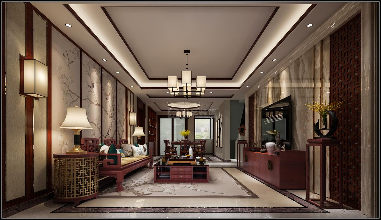 美的林城新中式,中式,单身公寓,150.0㎡