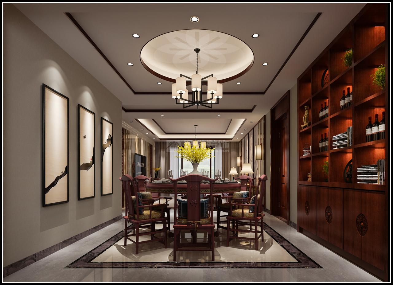 美的林城新中式,美式,单身公寓,150.0㎡