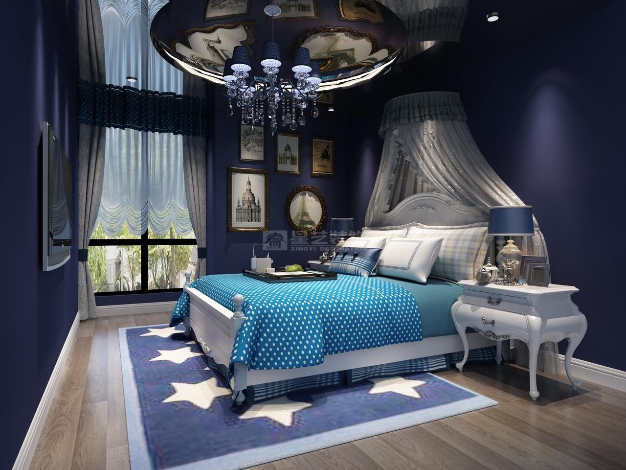 美的林城美式,美式,单身公寓,145.0㎡