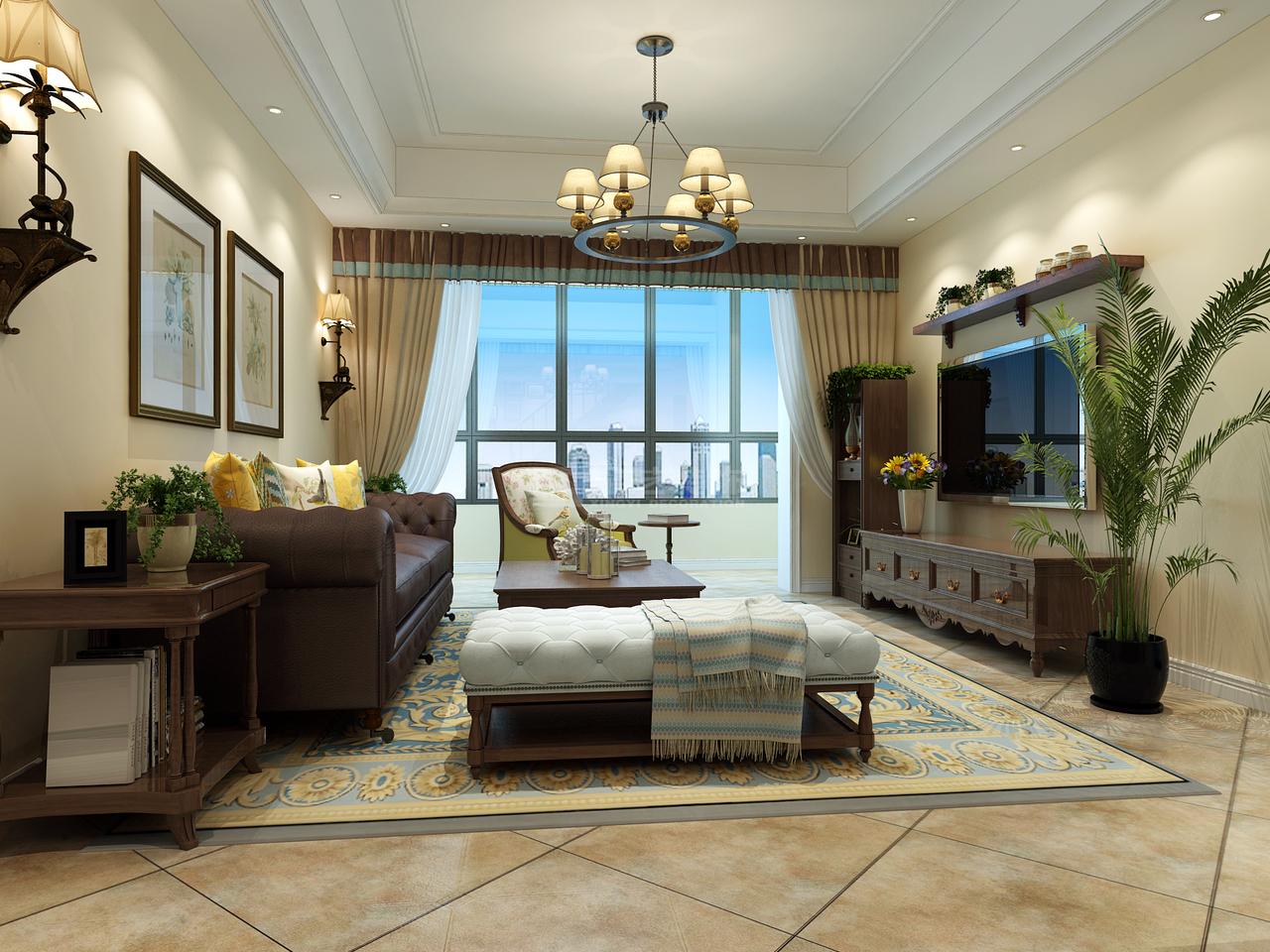 恒大中央公园A一,地中海,一居室,0.0㎡