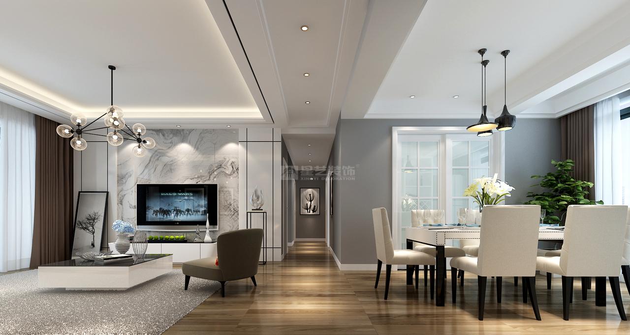 中铁逸都,简约是一种风格,也是一种态度!,后现代,单身公寓,120.0㎡