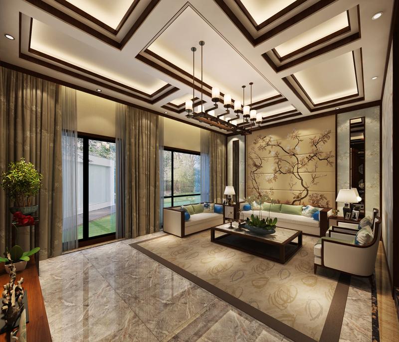 新中式风格,贵阳别墅设计,新中式别墅装修,贵阳装修公司,贵阳星艺装饰