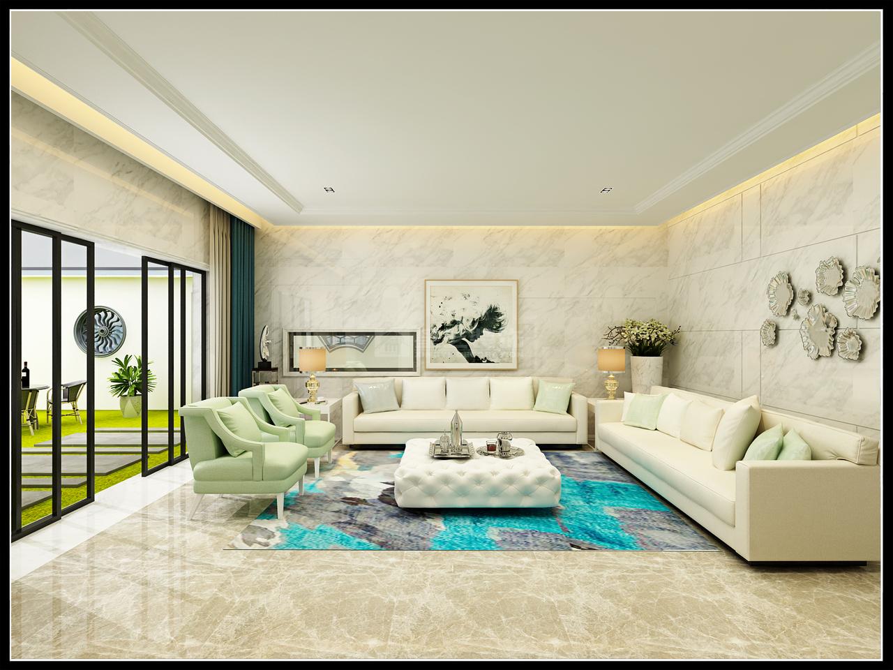 保利溪湖平现代欧式风格,后现代,一居室,300.0㎡