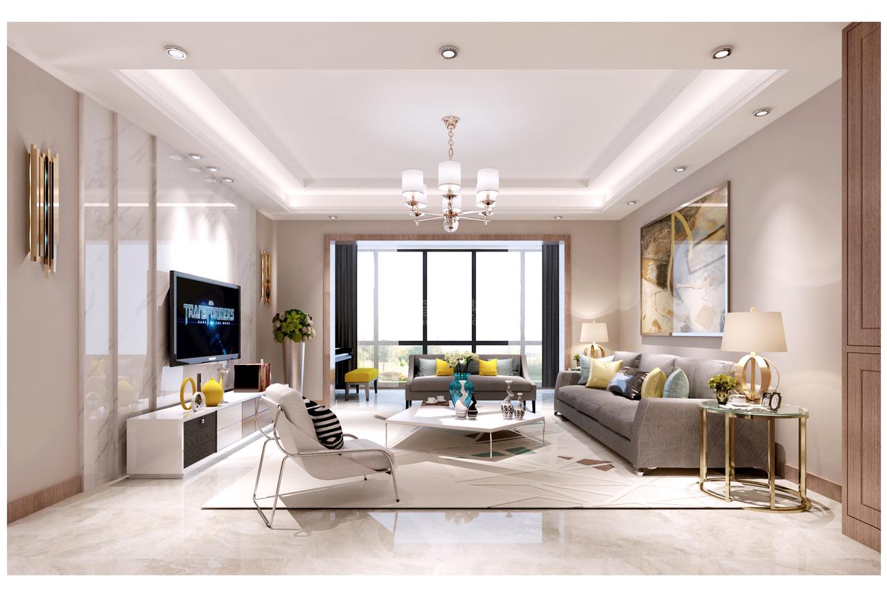 贵阳龙泉苑握有实力却不求炫耀的轻奢风新房装修,轻奢,单身公寓,126.0㎡