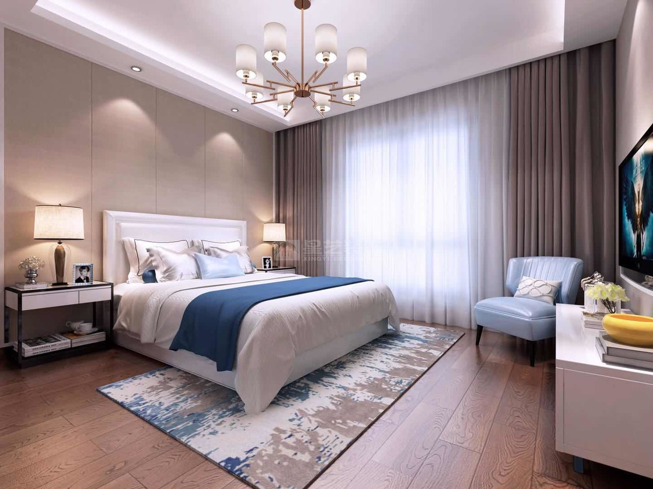 美的林城简欧,简欧,单身公寓,150.0㎡