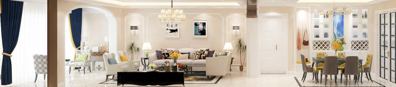 贵阳装修公司碧海花园时代发展趋势下的现代美式,现代,美式,大平层,200.0㎡