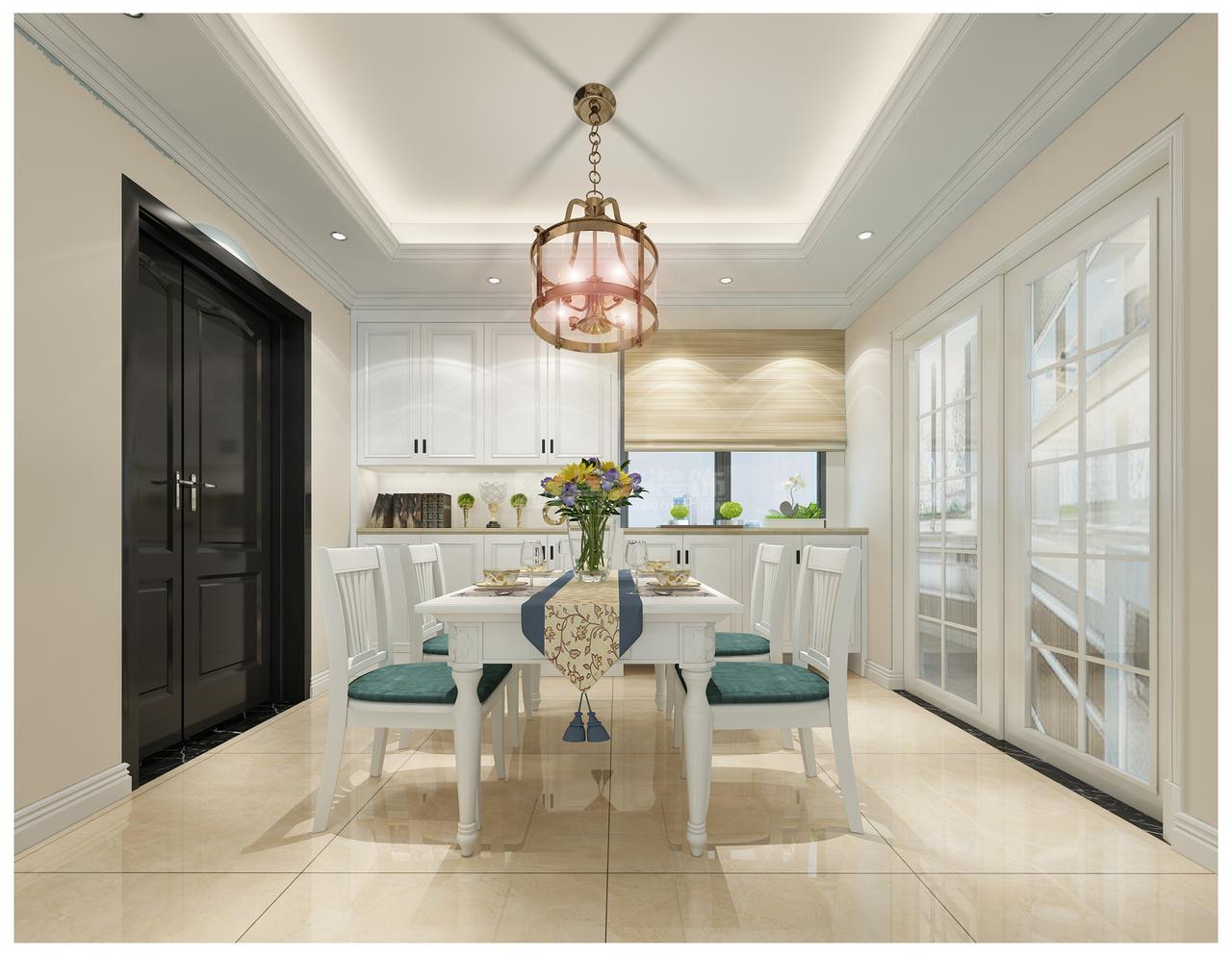 中天未来方舟彰显华美、富丽、浪漫气氛的简美风,韩式,地中海,单身公寓,120.0㎡