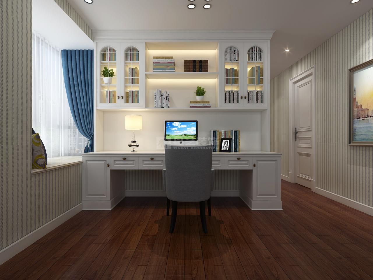 贵阳天誉城意在营造舒适、大方居家氛围的简美式装修效果图,后现代,地中海,别墅,180.0㎡