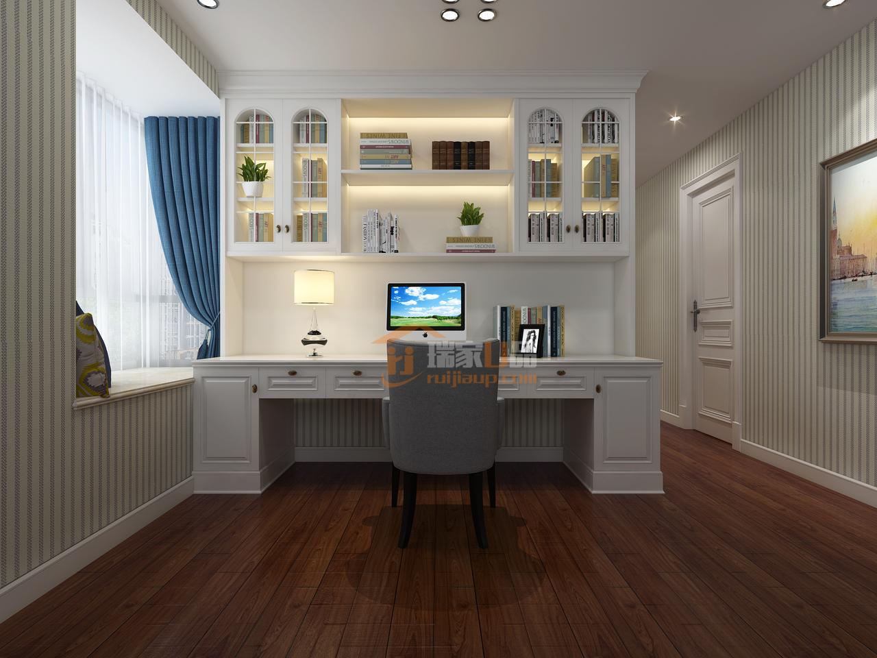 贵阳天誉城意在营造舒适、大方居家氛围的简美式装修效果图,,,180.0㎡