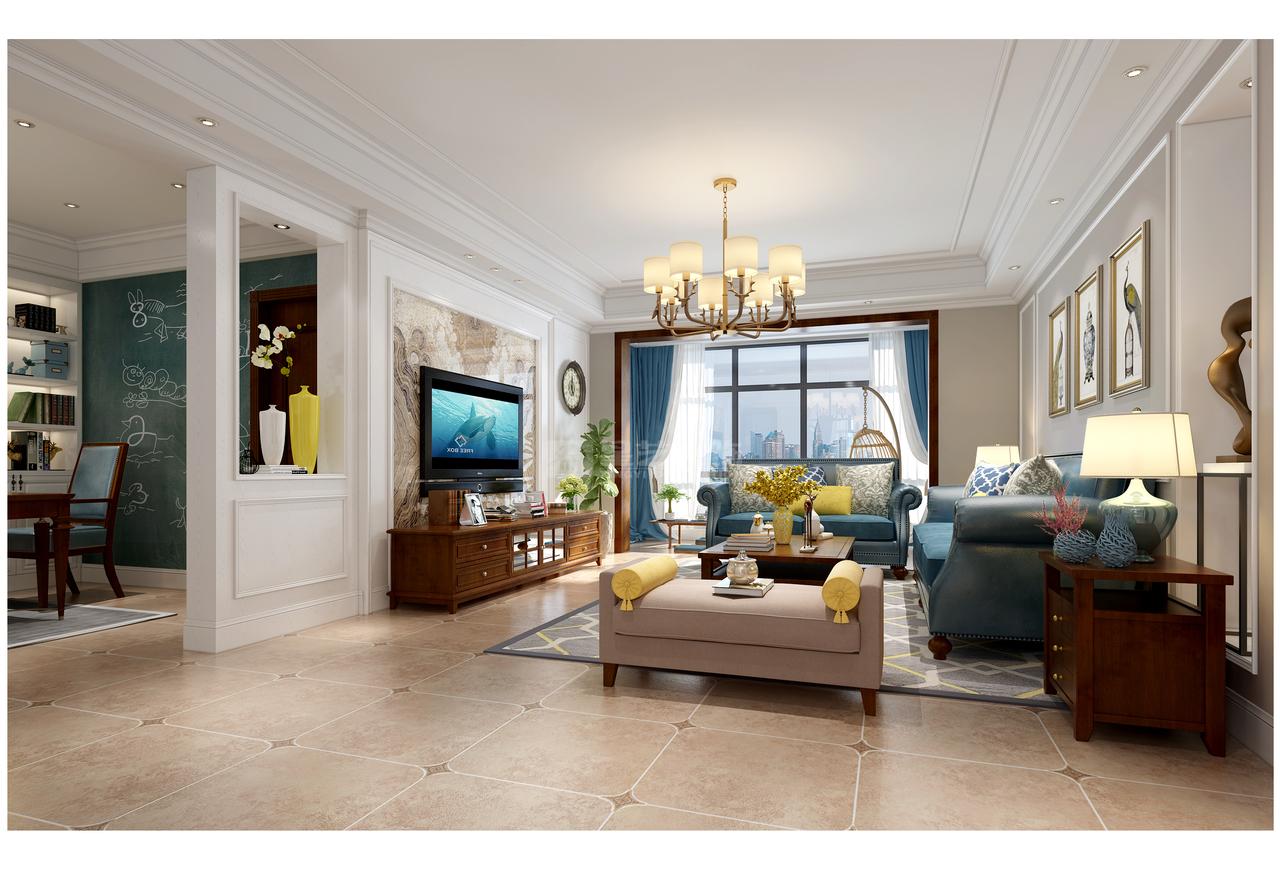 这套案例来源于星艺装饰贵阳装修公司,装修工地是美的林城时代,设计风格为现代美式风格。