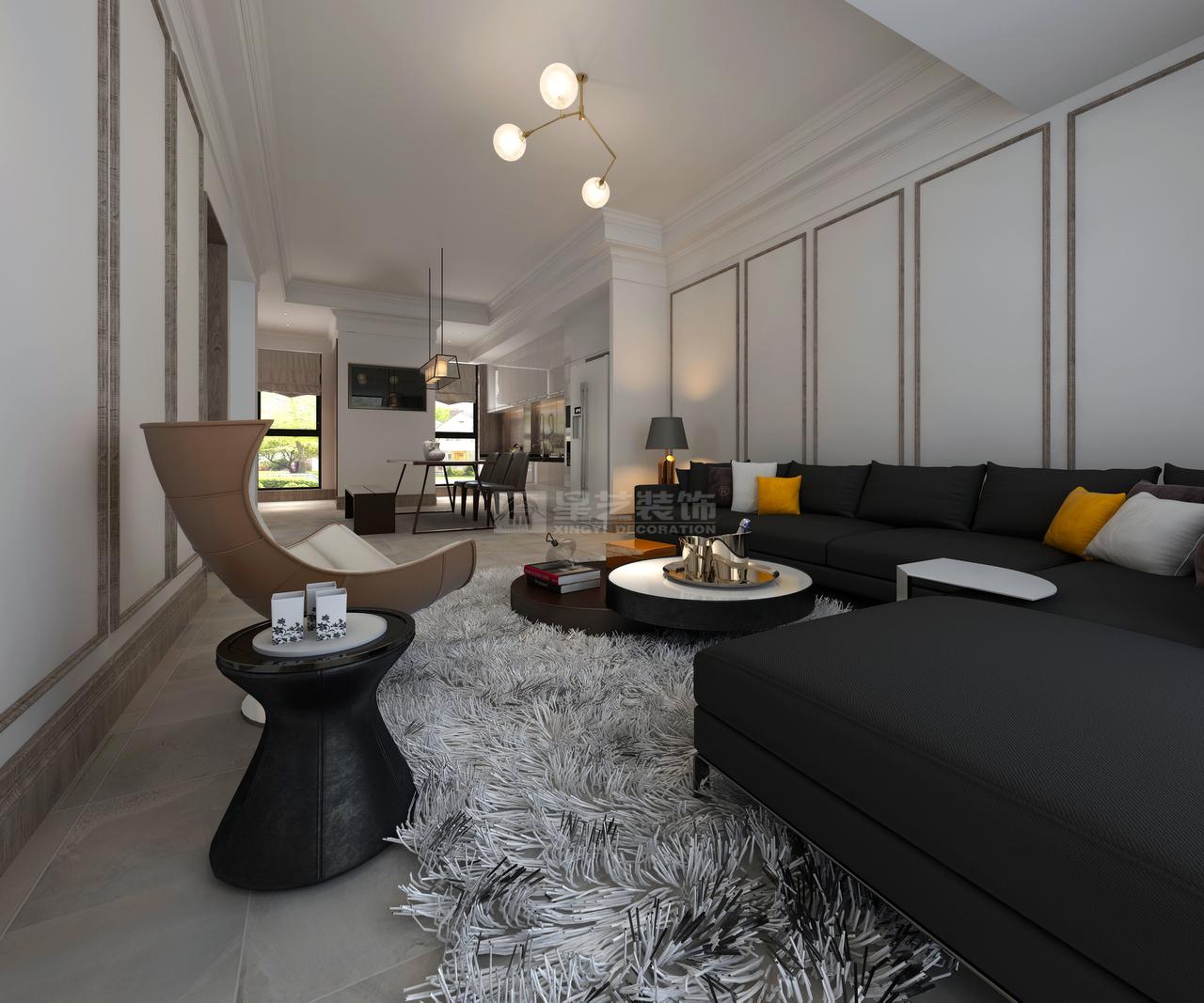 碧桂园水都蓝桥现代极简,韩式,单身公寓,150.0㎡