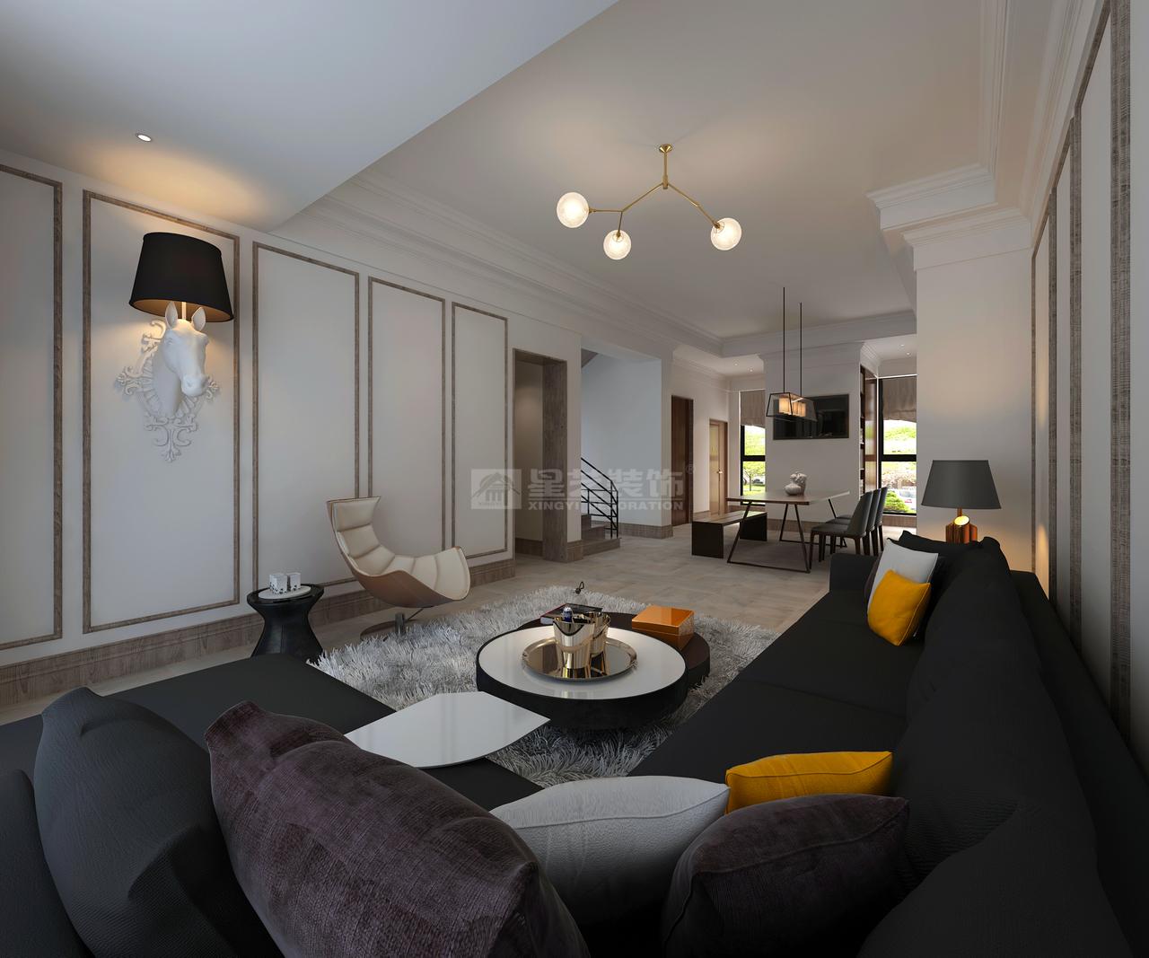 碧桂园水都蓝桥现代极简,现代,单身公寓,150.0㎡