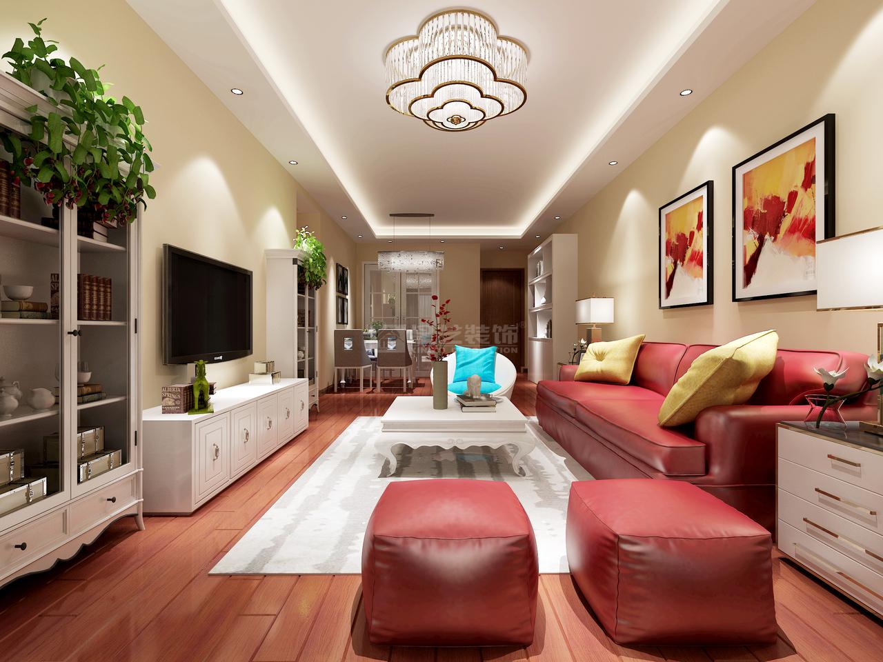 美的林城简约,现代简约,单身公寓,145.0㎡