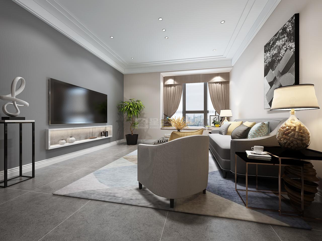 世纪城龙耀苑现代,现代,单身公寓,132.0㎡