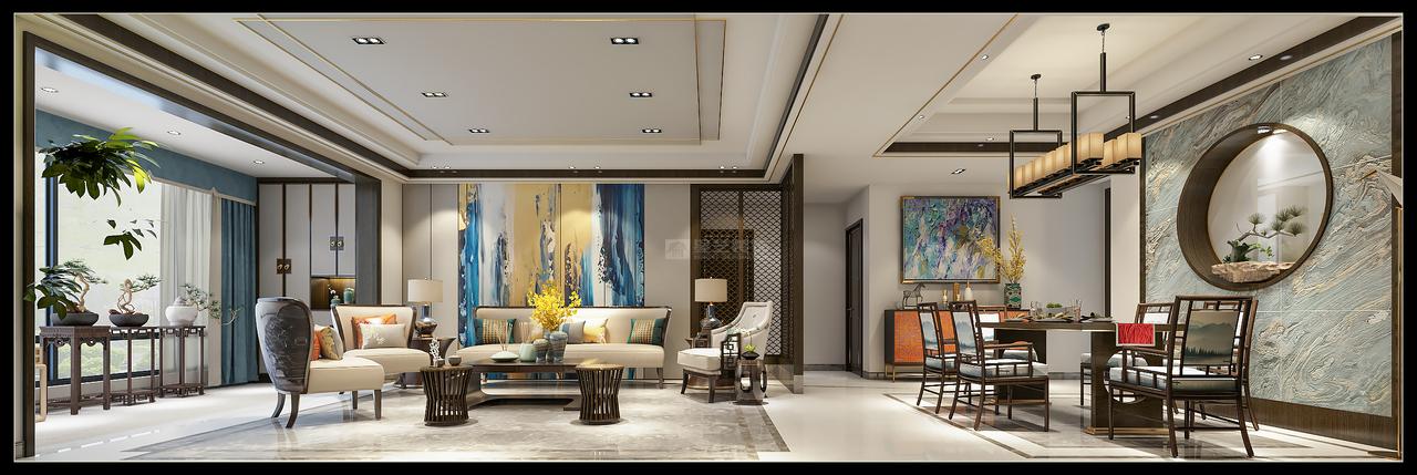 中天未来方舟轻奢新中式,美式,单身公寓,150.0㎡