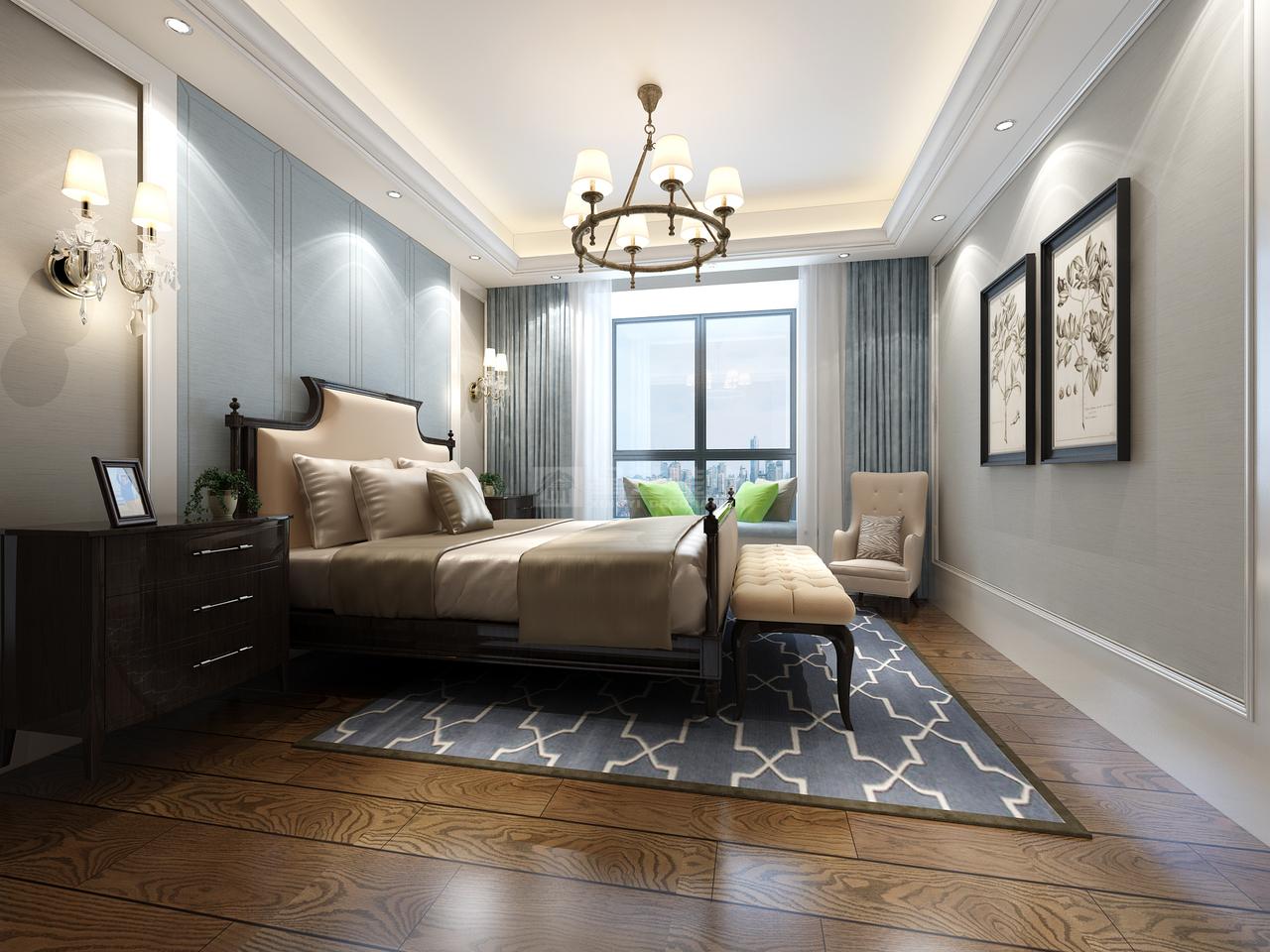 百灵尚品A美式,美式,单身公寓,120.0㎡