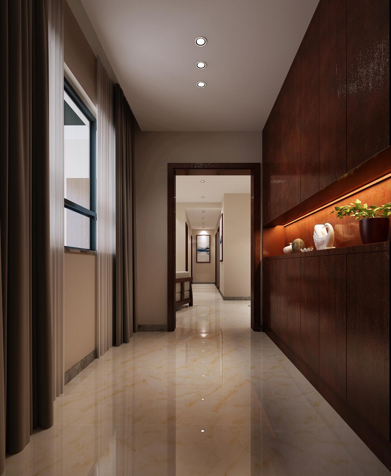 美的林城时代A新中式,美式,一居室,135.0㎡