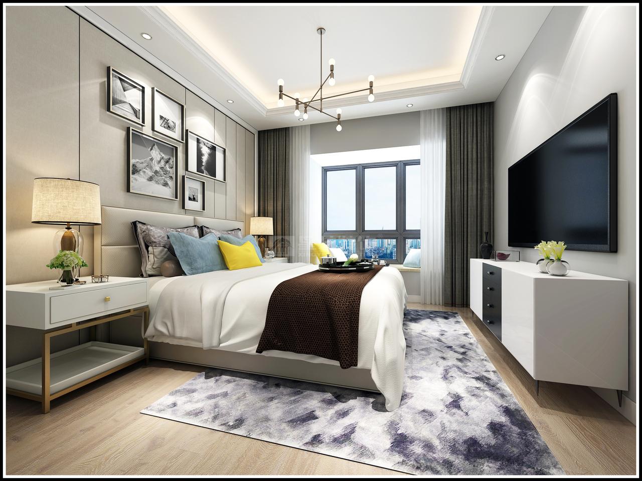 中铁逸都F栋单元现代,现代,单身公寓,107.0㎡
