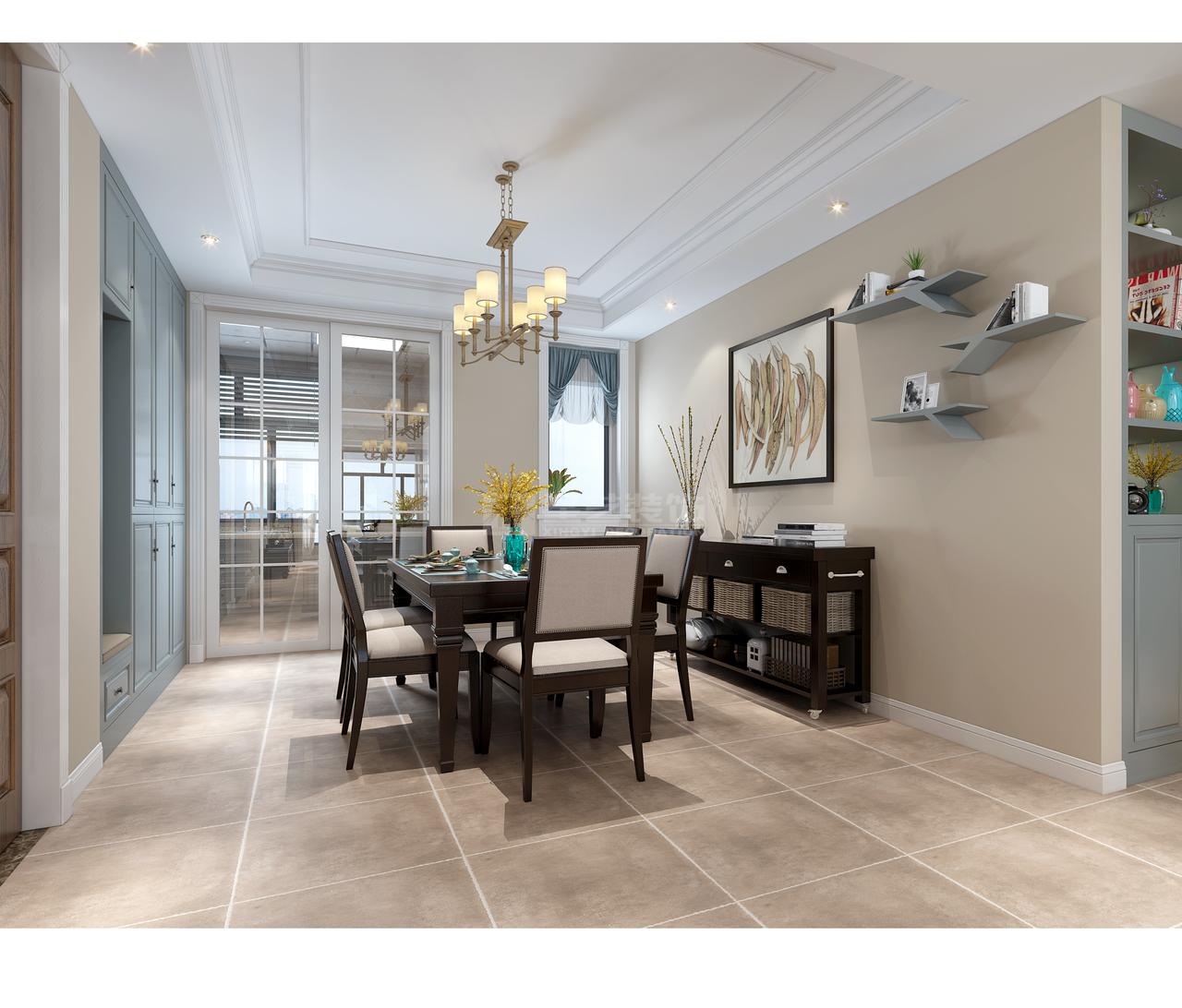 美的林城现代美式,带来一种清雅生活的舒适之感,现代,美式,三居室,122.0㎡